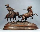 Eugene Lanceray. Chasing a Wild Horse. 1870s