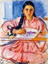 Zinaida Serebryakova. Girl with a Hoop. Fez. 1932