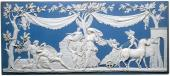 A large jasper plaque, depicting Diana and Endymion. C. 1787