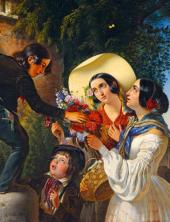Italian Scene (Flowers for the Madonna). 1841