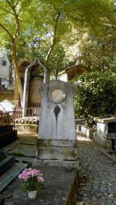 Mikhail Scotti's graveat. Montmartre cemetery in Paris. 2013