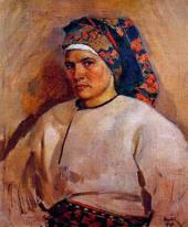Self-portrait in Ukrainian Costume. 1946