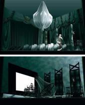 "Alexander Orlov. Set designs for ""The Cherry Orchard"", play by Anton Chekhov"