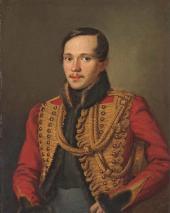 Pyotr Zabolotsky. Portrait of Mikhail Lermontov. 1837
