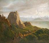 Mikhail Lermontov. View of the Caucasus with Camels. 1837-1838