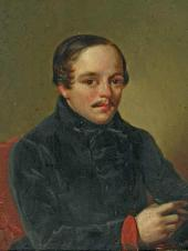 Unknown artist. Portrait of Mikhail Lermontov. 1840s