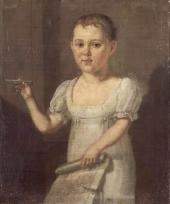 Unknown artist. Lermontov as a Child. 1810s