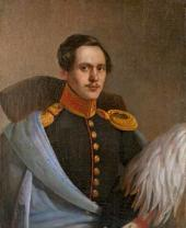Unknown artist. Portrait of Mikhail Lermontov. 1838-1839