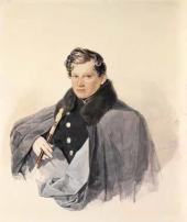Pyotr Sokolov. Portrait of Prince Sergei Trubetskoy