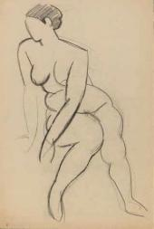 Robert Falk. Seated Femal e Nude. 1914