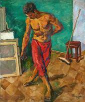 Pyotr Konchalovsky. Floor-Polisher. 1946