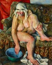 Alexander Osmerkin. Nude (model S. Osipovich). 1922