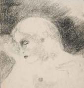 Vasily Chekrygin. Female Nude in Profile. 1922