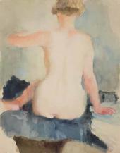 Vladimir Lebedev. Female Model from the Back. 1929