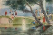 Vladimir Milashevsky. Female Bathers. Kuskovo. 1938
