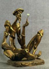 Don Quixote. Gypsum, 1976; brass, bronze, 1990