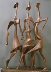 Woman Feminists. Gypsum, 1970; forged aluminium, 1987