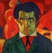 Kazimir Malevich. Self-portrait. 1908-1910