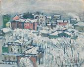 Wassily Kandinsky. Winter Day. Smolensky Boulevard. c. 1916