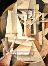 Ivan Kliun. Self-portait. 1914