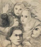 Vasily Chekrygin. Faces. 1920