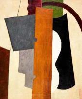 Lyubov Popova. Painterly Architectonics with a Yellow Plank. 1916