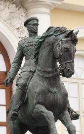 Mikhail Pereyaslavets. Monument to Marshal Georgy Zhukov. 2015