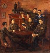 Vladimir PEREYASLAVET. Group Portrait of Descendants of Alexander Pushkin. 1957