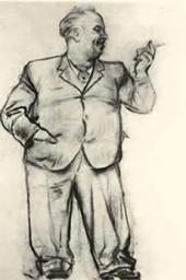 Unknown artist. Caricature of Vladimir Serov. [1943]