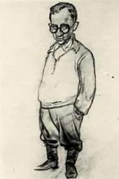 Unknown artist. Caricature of Vladimir Malagis. [1943]