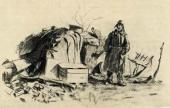 """""""All That is Left"""". A battlefield drawing. 1943"""