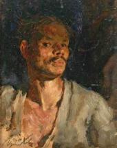 Viktor Tsyplakov. Self-portrait. 1943