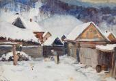 Grigory Shega. Winter in Voskresensk. 1942