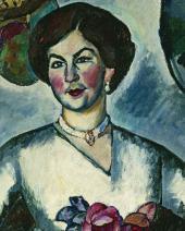 Ilya MASHKOV. Portrait of a Lady with Pheasants. 1911. The Detail