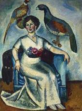 Ilya MASHKOV. Portrait of a Lady with Pheasants. 1911