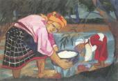 Natalia GONCHAROVA. Baby (Peasant Women). 1910