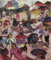 Aristarkh LENTULOV. Umbrellas. C.1910