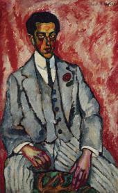 Ilya MASHKOV. Male Portrait with Flower in Buttonhole. 1910