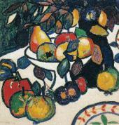 К.С.МАЛЕВИЧ. Натюрморт (Фрукты). 1908