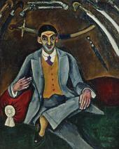 Pyotr KONCHALOVSKY. Portrait of G.B. Yakulov. 1910