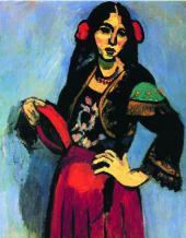 Henri MATISSE. Spanish Girl with Tamburine. 1909