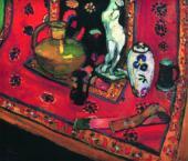 Henri MATISSE. Figurine and Vases on the Oriental Carpet. 1908