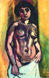 Henri MATISSE. Nude. Black and Gold. C. 1908