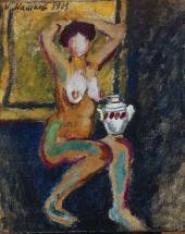 Ilya MASHKOV. Model with a Vase. C. 1908