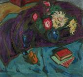 Alexander KUPRIN. Flowers against Purple Drape. 1910