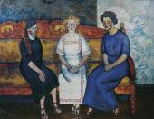 Ilya MASHKOV. Three Sisters on the Sofa (N., L. and Ye. Samoilov). 1911