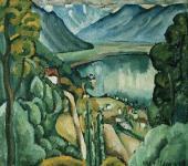 Ilya MASHKOV. Geneva Lake. Glion. 1914