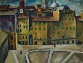 Pyotr KONCHALOVSKY. Piazza del Signioria in Siena. 1912