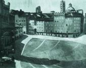 Pierre GIRIEUD. Piazza delle Campo. 1908