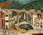 Ilya MASHKOV. Italy. Nervi. Landscape with Aqueduct. 1913